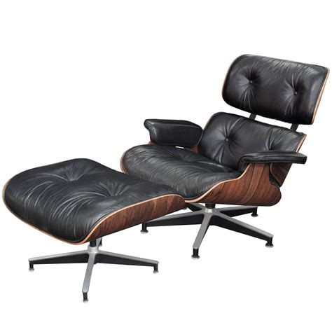 iconic lounge chair and ottoman by charles and eames