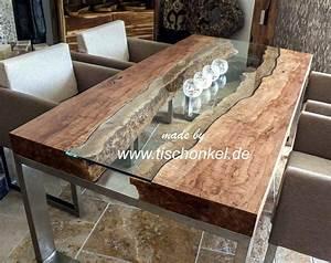 Couchtisch Holz Glas : couchtisch holz und edelstahl ~ Fotosdekora.club Haus und Dekorationen