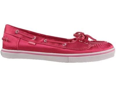 Red Vans Boat Shoes by Free 1 Pair Shoes Vans Abby Boat Shoe Satin Red Free