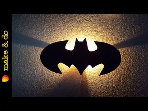 how to make a batman wall light youtube