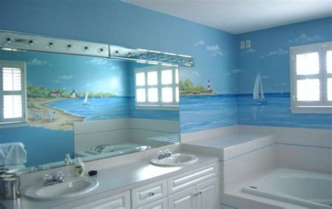 bathroom murals contemporary bathroom boston