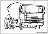 Coloring Truck Mixer Cement Pages Police Concrete Helicopter Colouring Lorry Pitara Clipart Ford Transportation Cars Pickup Drawing Rescue Trucks Monster sketch template