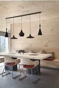 boiserie murale et parement bois pour interieur contemporain With salle À manger contemporaine avec deco murale style scandinave