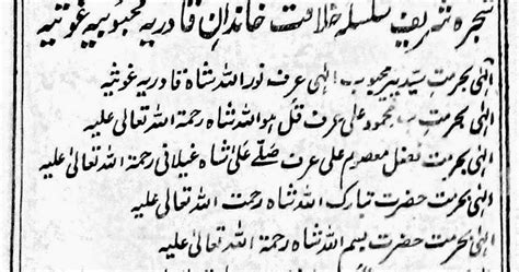 Shijra-e-tareeqat (شجرہ طریقت