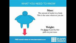 NCEA Science Level 1 Physics: Mass and Weight - YouTube