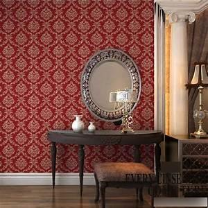 Red Wallpaper For Living Room Ideas