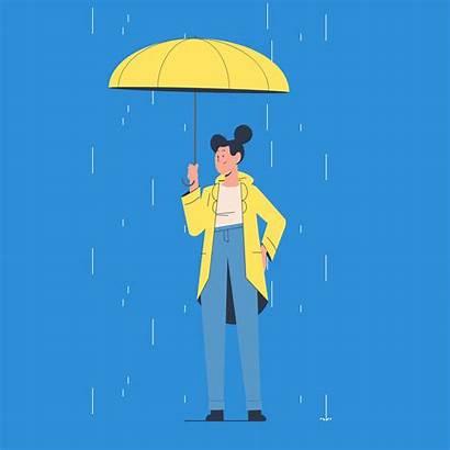Umbrella Giphy Rain Tv Gifs Rainy Bewilder