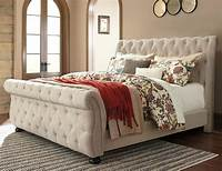 upholstered sleigh bed Queen Upholstered Sleigh Bed with Tufting by Signature ...