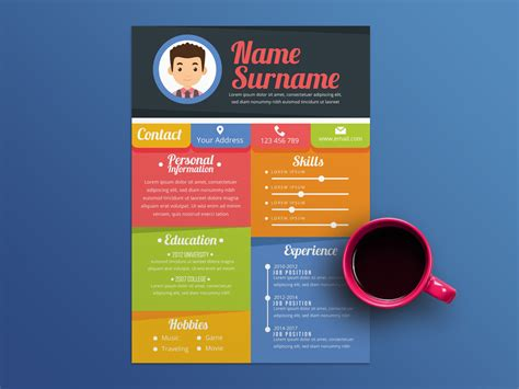 Colorful Resume Templates by Free Colorful Resume Template In Illustrator File Format