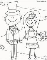 Coloring Pages Alley Doodle Bride Groom Activity Colouring Reception Sheets Printable Fun Books Getdrawings Drawing Heart Child sketch template