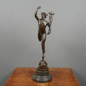 Mercury / Hermes flying - Bronze statue - sculptures