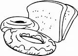Bread Toast Coloring Pages Template Slices sketch template