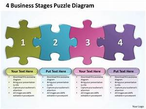 4 Business Stages Puzzle Diagram Powerpoint Templates Ppt
