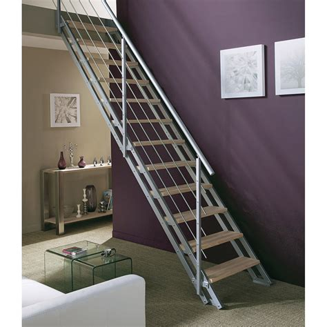 escalier meunier leroy merlin escalier modulaire escavario structure m 233 tal marche bois leroy merlin