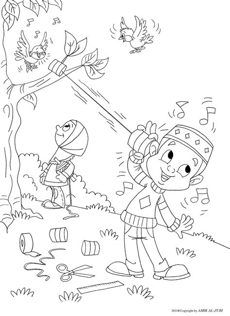 Moslim Kleurplaten by Outside Coloring Page Muslim Boy Coloring Pages Islam