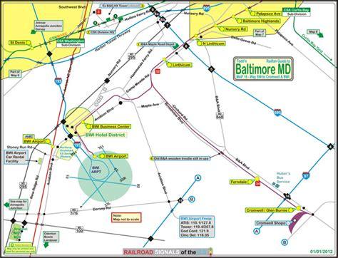 baltimore light rail map baltimore railfan guide bwi airport cromwell ferndale