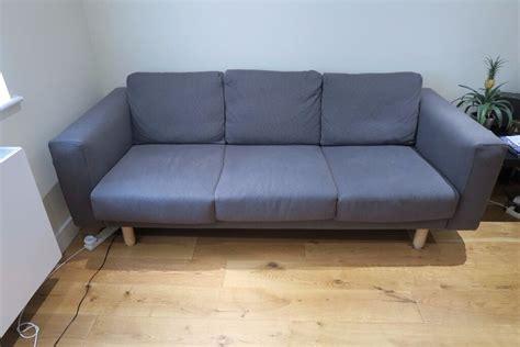 ikea sofa norsborg three 3 seat ikea norsborg grey sofa nearly new in reigate surrey gumtree