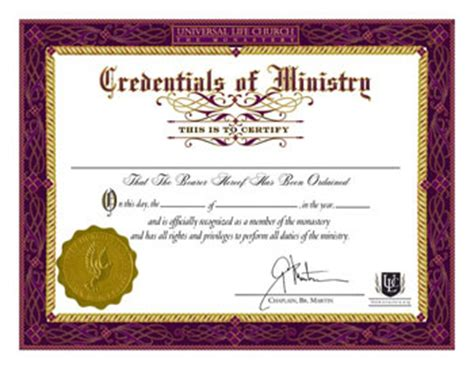 certificate of wiccan ordination template free ordination credential