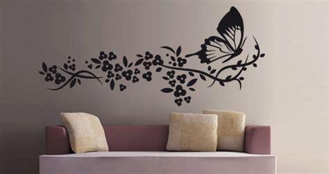 chambre marine stickers muraux papillon et fleur sticker décoration