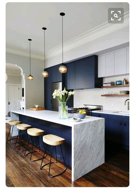 Modern Interior Design Ideas For Kitchen by Navy Blue Kitchen I Dont If I Ll The Guts To