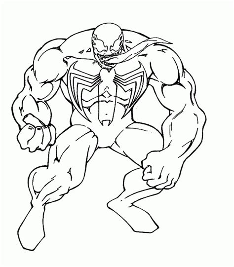 printable venom coloring pages coloring home