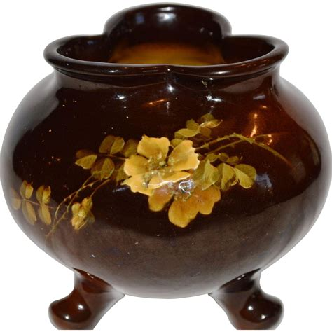 Bowl Vase by Antique Footed Bowl Vase Yellow Louwelsa 589