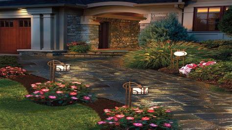 Patio Decor Ideas, Front Yard Landscape Pavestone Lighting