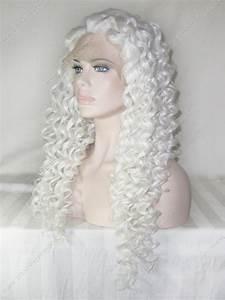 Custom Nicki Minaj Synthetic Lace Wig 24inch White Color