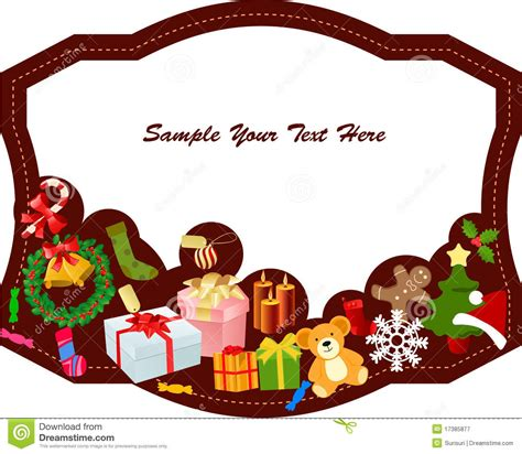 merry christmas frame stock vector image of frame festive 17385877