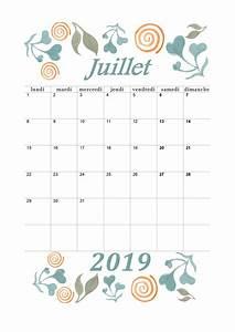 Calendrier Par Mois : calendrier mensuel 2019 mois de juillet calendrier ~ Dallasstarsshop.com Idées de Décoration