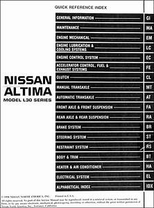 1999 Nissan Altima Fuse Box Diagram : 1999 nissan altima repair shop manual original ~ A.2002-acura-tl-radio.info Haus und Dekorationen