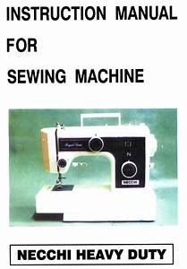 Necchi Sewing Machine Instruction Manuals And Repair Manuals