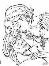 Coloring Flynn Pages Rapunzel Tangled Tear Heals Rider Tower Printable Drawing Hair Rapunzels Supercoloring Anime Maximus Cartoon Source Scene Printables sketch template