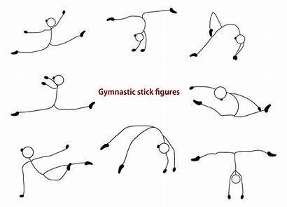 Stick Gymnastics Figure Graphic