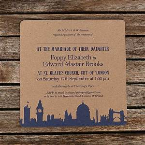 recycled london theme wedding invitations by artcadia With wedding invitation print london