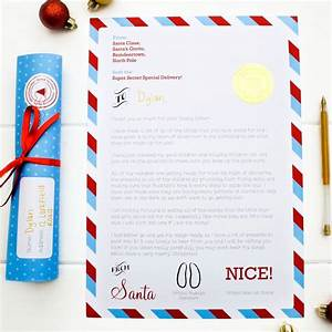 personalised letter from santa scroll by joanne hawker With scroll letter from santa