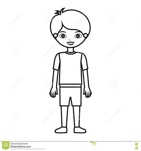 Silueta Del Cuerpo Humano De Niños Para Colorear Hay Niños