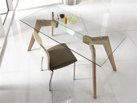 base tavolo legno dafne tavolo in vetro con base in legno