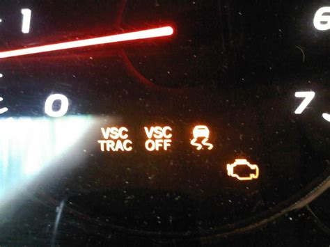 what is vsc light vsc trac trac and check engine light all on toyota