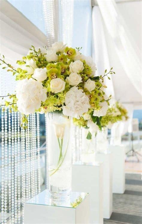tall white floral arrangement flower arrangements