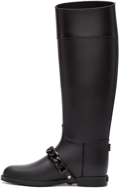 givenchy black rubber eva chain boots lyst
