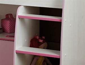 Hochbett 90x200 Weiß : hochbett zola 90x200 wei pink rosa kinderbett etagenbett kinderzimmer kaufen bei vbbv gmbh ~ Indierocktalk.com Haus und Dekorationen