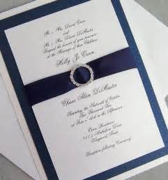 navy wedding invitations wedding invitation rhinestone wedding invitation navy ivory silver wedding