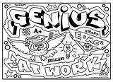 Graffiti Coloring Diplomacy Genius Pages Adults Words Quotes Colouring Visit Styles Signs sketch template