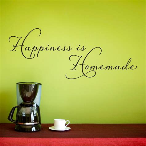 happiness  homemade wall decal kitchen wall sticker