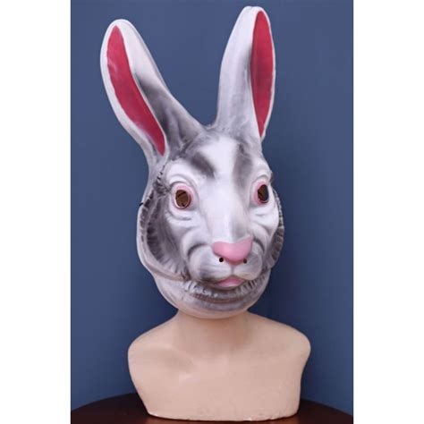 creepy rabbit mask alice  wonderland