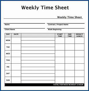 Various Type Of Timesheet Templates To Help Your Business