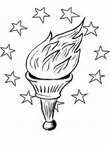 Torch Coloring Printable Mycoloring sketch template