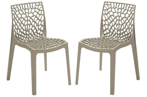 chaise de cuisine grise lot de 2 chaises design grises gruyer chaise design pas cher