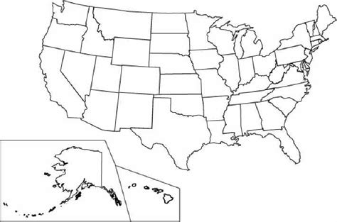 coloring map  united states  coloring pages